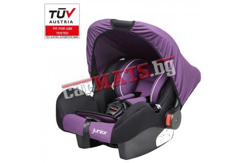 Бебешко столче за кола с дръжка Petex Junior - Bambini - лилав цвят
