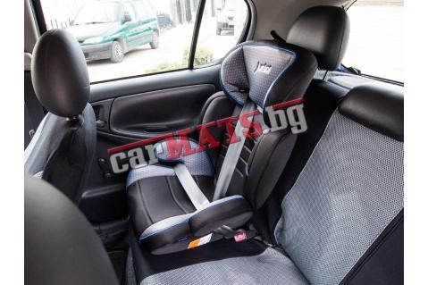 Детско столче за кола Petex Junior - Basic - черен цвят