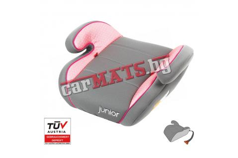 Детско столче за кола Petex Junior - Moritz - розов цвят