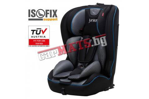 Детско столче за кола Petex Junior - Premium Plus Black