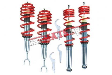 Регулируемо окачване за Audi A4 B5 (1995-2001) - Червени пружини