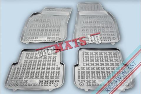 Гумени стелки Rezaw-Plast за Audi A6 C6 (2004-2011) - тип леген - Сиви