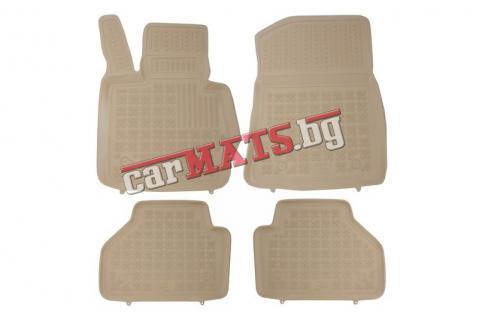 Гумени стелки Rezaw-Plast за BMW X3-F25 (2011+) - тип леген - Бежови