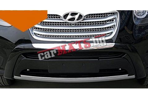 Преден и заден ролбар за Hyundai Santa Fe (2010-2012) - Черен