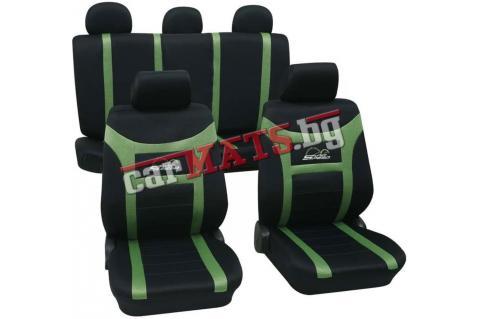 """Тапицерии за седалки Petex """"Super Speed"""" - Черно-зелен"""