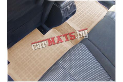 Универсална гумена стелка за за задният ред седалки по средата - Бежова