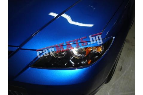 Вежди за фарове за Mazda 3 (2009+) - Черни