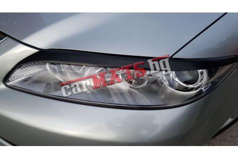 Вежди за фарове за Mazda 6 (2002-2009) - Черни