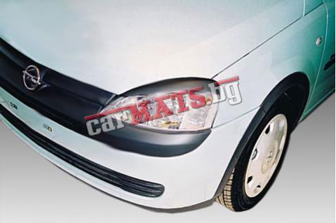 Вежди за фарове за Opel Corsa C (2000-2006) - EU - Черни